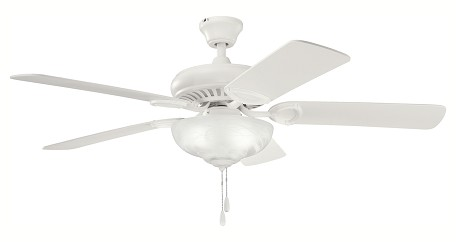 "Sutter Place Select Collection 52"" Satin Natural White Ceiling Fan with Satin Natural White Blades 339211SNW"