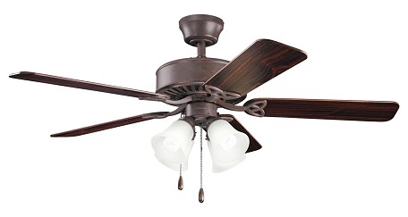 Kichler Four Light Tannery Bronze Ceiling Fan - 339240TZ