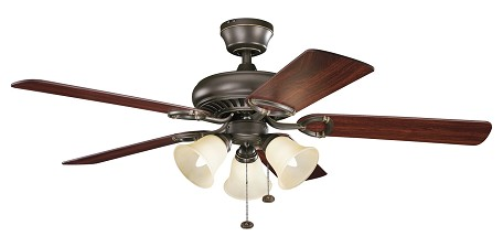 Kichler Three Light Olde Bronze Ceiling Fan - 339400OZ