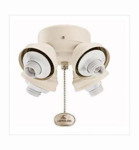 Kichler Four Light White Fan Light Kit - 350011WH