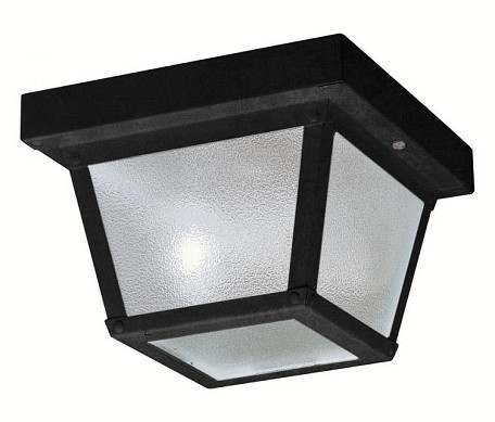Kichler One Light Black (painted) Outdoor Flush Mount - 365BK