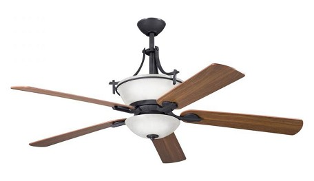 Kichler Three Light Distressed Black Fan Light Kit - 380000DBK