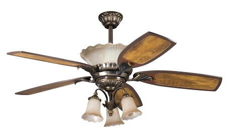 Kichler Three Light Oiled Bronze Fan Light Kit - 380003OLZ