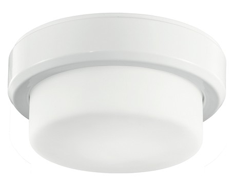 Kichler One Light White Drum Shade Flush Mount - 380046WH