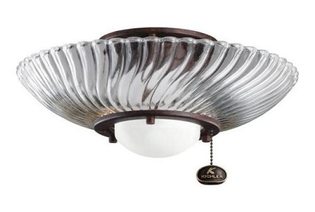 Kichler One Light Tannery Bronze Fan Light Kit - 380113TZ
