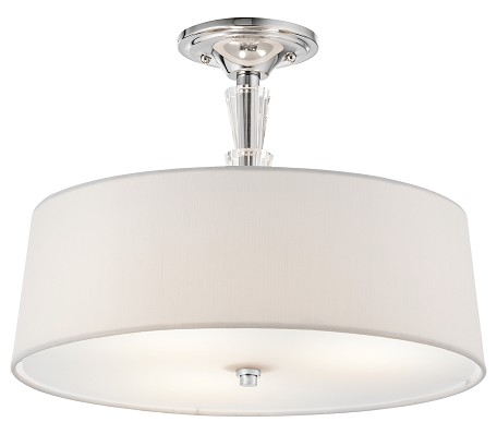Chrome Crystal Persuasion 3 Light Semi-Flush Indoor Ceiling Fixture