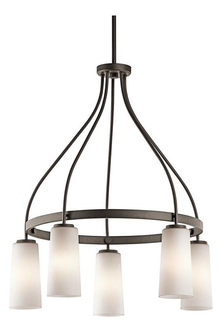 "Whitley Collection 25"" 5-Light Olde Bronze Chandelier 42977OZ"