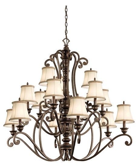 Kichler Fifteen Light Terrene Bronze Up Chandelier - 43281TRZ