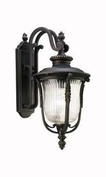 Kichler One Light Rubbed Bronze Wall Lantern - 49002RZ