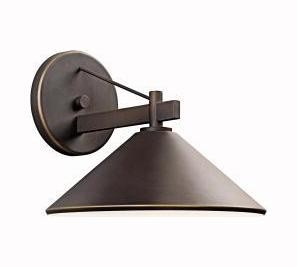 "Ripley Collection 1-Light 12"" Olde Bronze Dark Sky Outdoor Wall Sconce 49061OZ"