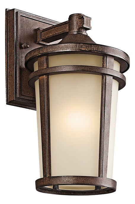 Brown Stone Atwood 1 Light 11in. Energy Efficient Fluorescent Outdoor Wall Light