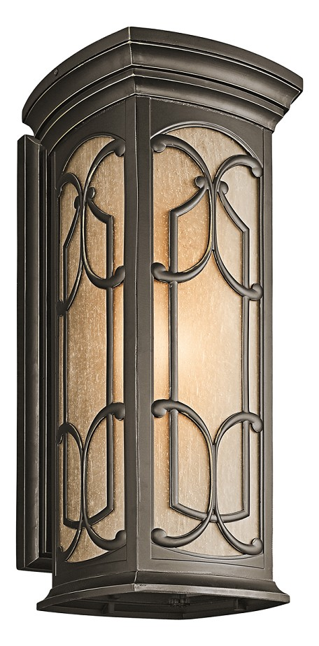Olde Bronze Franceasi Collection 1 Light 25in. Outdoor Wall Light