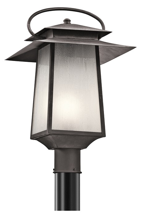 Kichler One Light Weathered Zinc Post Light - 49534WZC