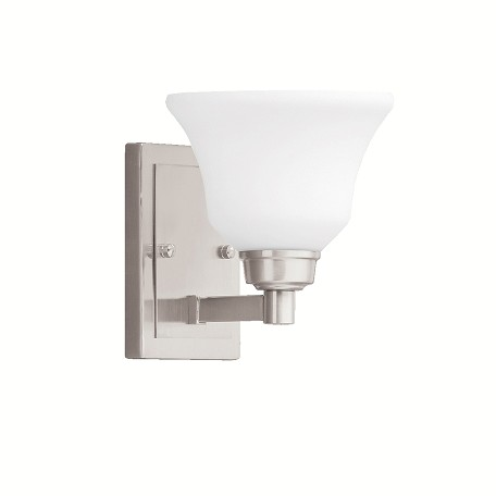 Brushed Nickel Langford 1 Light Wall Sconce