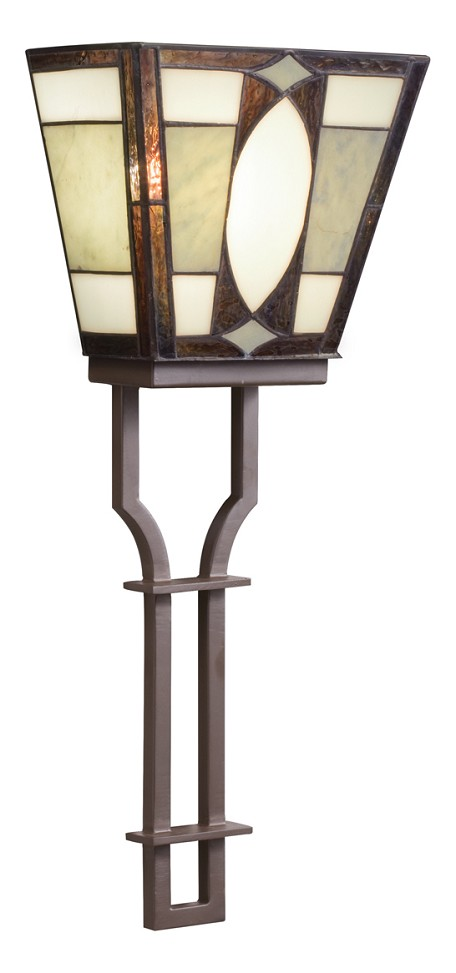 Olde Bronze Tiffany Two Light Wallchiere Sconce from the Denman Collection