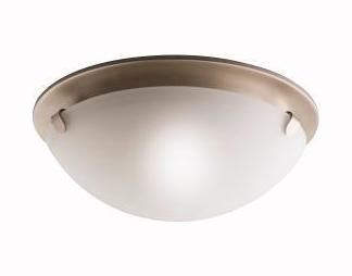 Brushed Nickel 2 Light Flush Mount Indoor Ceiling Fixture