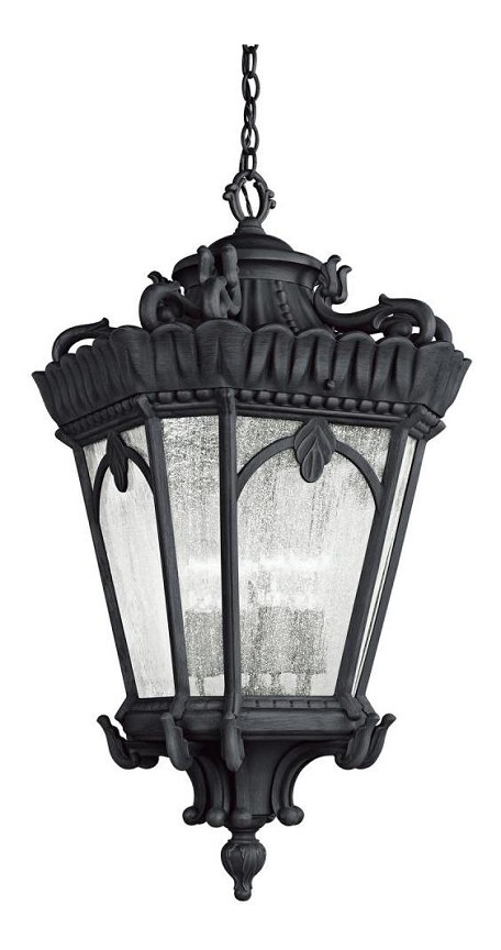 Black Tournai 4 Light Outdoor Pendant