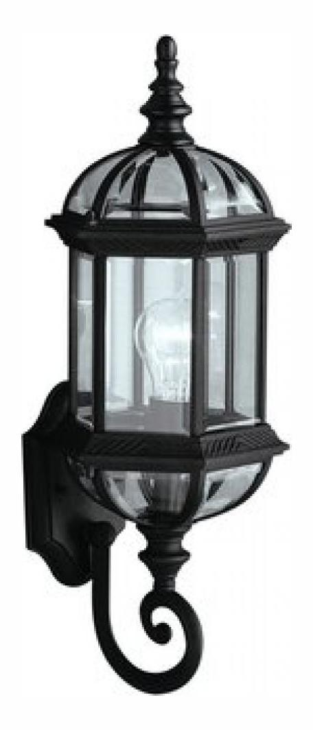 Black Barrie Collection 1 Light 22in. Outdoor Wall Light