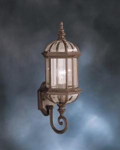 "Barrie Collection 1-Light 21"" Tannery Bronze Outdoor Wall Lantern with Clear Glass 9736TZ"
