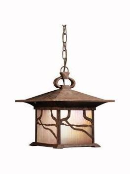 Distressed Copper 1 Light Outdoor Pendant from the Morris Collection