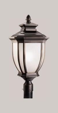 Kichler One Light Rubbed Bronze Post Light - 9940RZ