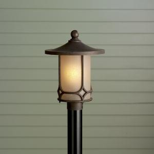 "Chicago Collection 1-Light 16"" Aged Bronze Outdoor Post Mount 9975AGZ"