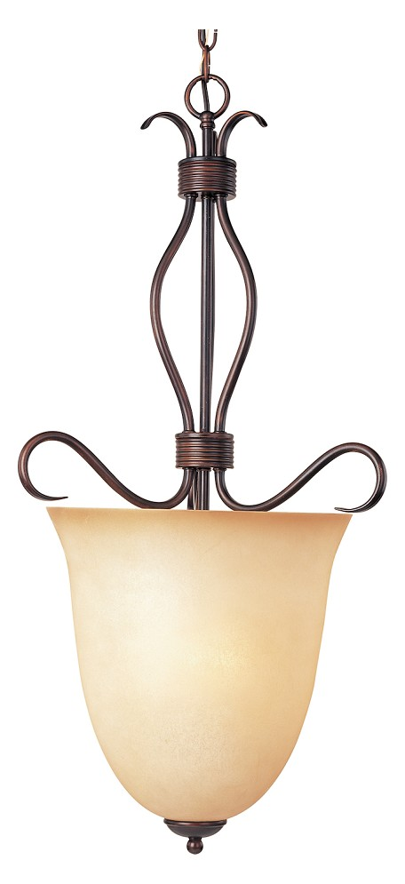 "Basix Collection 4-Light 32"" Oil Rubbed Bronze Entry Foyer Pendant with Wilshire Glass 10131WSOI"