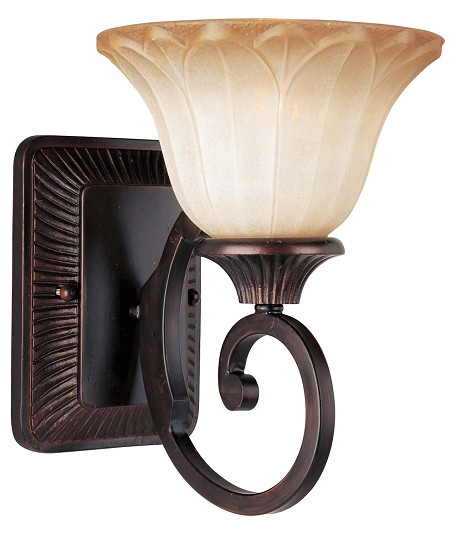 "Allentown Collection 1-Light 7"" Oil Rubbed Bronze Wall Sconce with Wilshire Glass 13511WSOI"