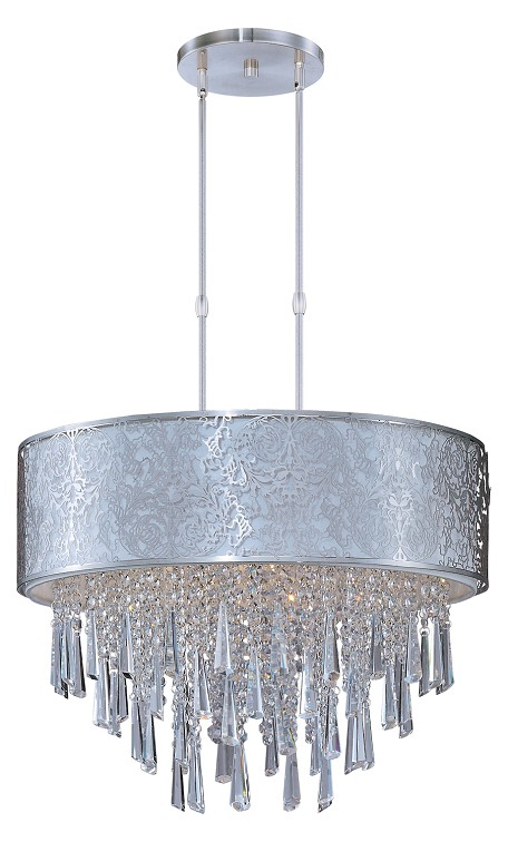 "Rapture Collection 9-Light 19"" Satin Nickel Pendant 22295WTSN"