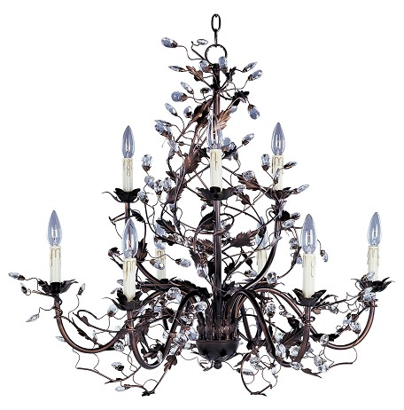 "Elegante Collection 9-Light 30"" Oil Rubbed Bronze Chandelier 2852OI"