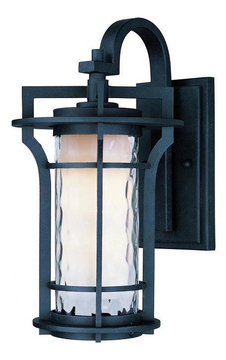 Maxim One Light Water Glass Glass Black Oxide Wall Lantern - 30486WGBO