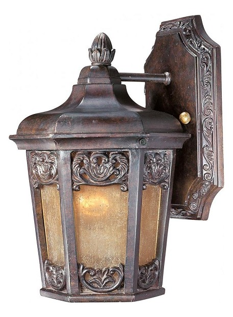 "Lexington Collection 1-Light 11"" Colonial Umber Outdoor Wall Lantern 40172NSCU"