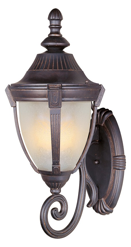"Wakefield Collection 1-Light 13"" Empire Bronze Outdoor Wall Light with Marble Glass 4035MREB"