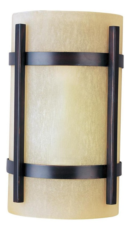 "Luna Collection 1-Light 7"" Oil Rubbed Bronze Outdoor Wall Light with Wilshire Glass 85218WSOI"