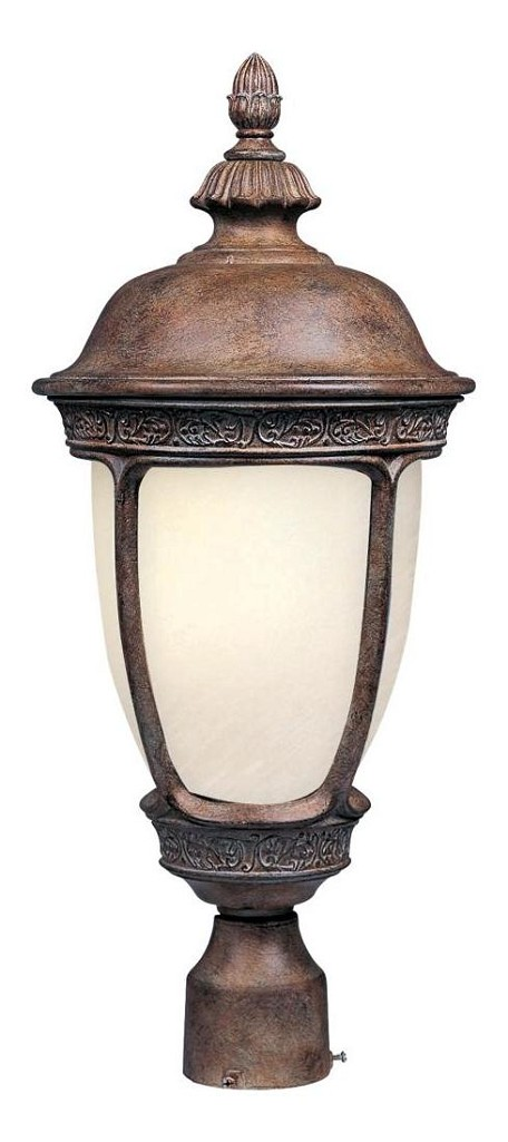 "Knob Hill Collection 1-Light 22"" Sienna Outdoor Pier/Post Mount with Snow Flake Glass 85460SFSE"