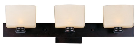 "Essence Collection 3-Light 22"" Oil Rubbed Bronze Vanity with Dusty White Glass 9003DWOI"