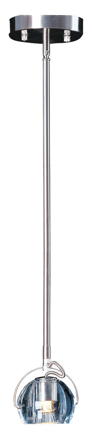 Satin Nickel 1 Light 4in. Wide Pendant from the Cypher Collection