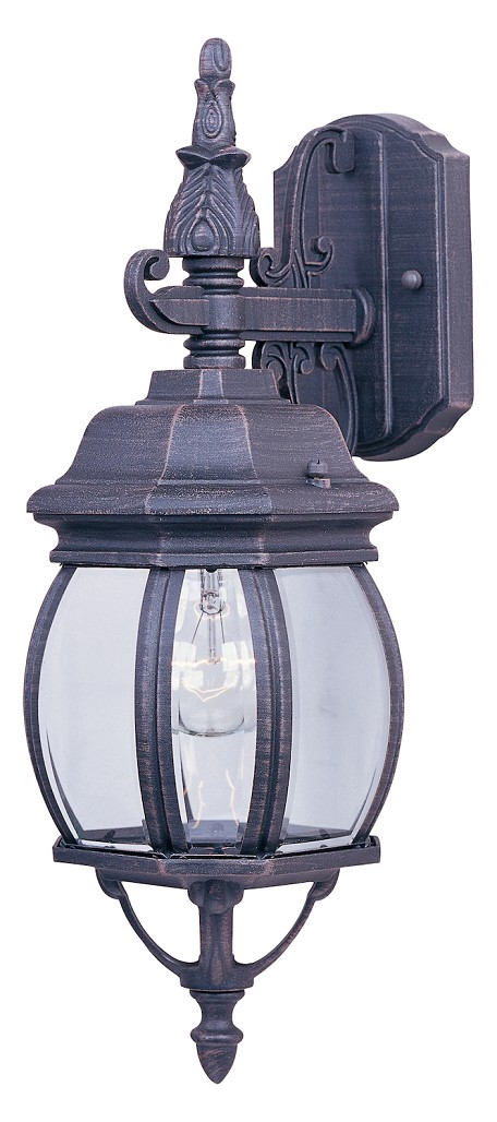 "Crown Hill Collection 1-Light 15"" Rust Patina Outdoor Wall Light with Clear Glass 1030RP"