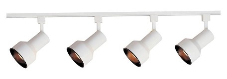 "Track Collection 3-Light 48"" White Track Light 92305WT"