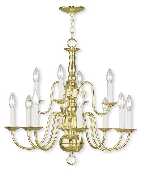 Polished Brass Up Chandelier