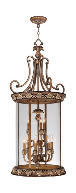 Savannah Collection 9-Light 48'' Venetian Patina Pendant 8468-57