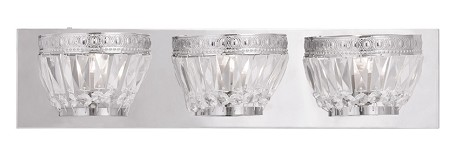 Chrome Chromata 3 Light Bathroom Vanity Light