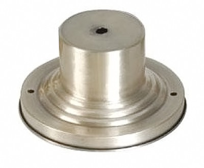 "Brushed Nickel 6"" Round Outdoor Pier Mount Adapter Base 2001-91"