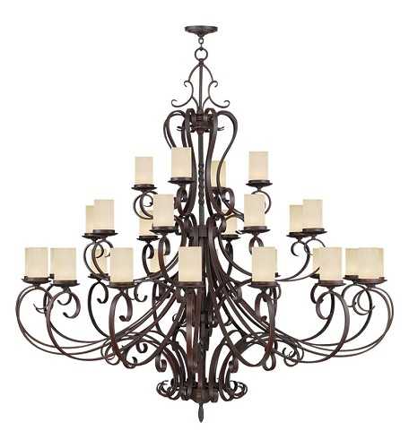 Imperial Bronze Millburn Manor 24 Light 3 Tier Chandelier
