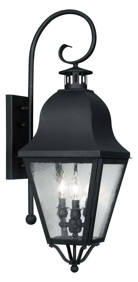 Black Amwell Large Outdoor Wall Sconce with 3 Lights