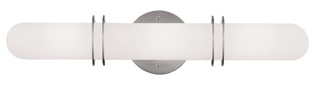 "Pelham Collection 3-Light 20"" Brushed Nickel Bath Light with Hand Blown Satin White Glass 1903-91"