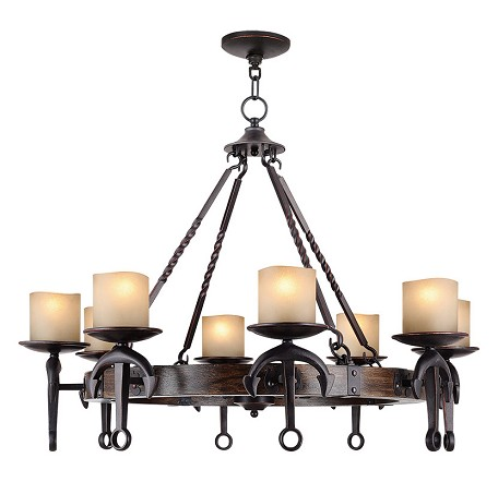 Olde Bronze Cape May 8 Light 1 Tier Chandelier
