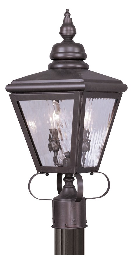 Bronze Cambridge 2 Light Outdoor Post Light