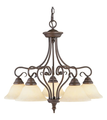 Imperial Bronze Down Chandelier