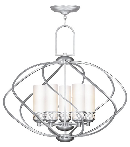 Brushed Nickel Westfield 5 Light 1 Tier Chandelier
